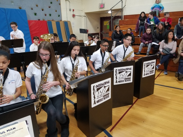 Jazz Band plays at 5th Grade Info Night